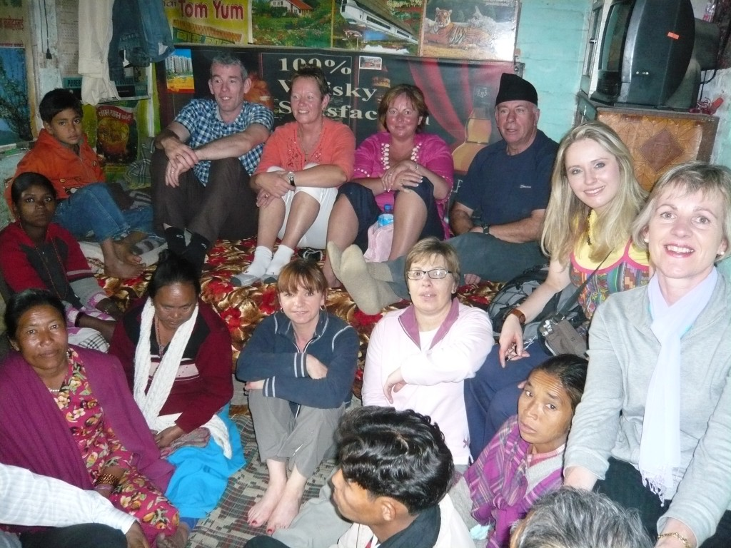 Mission team and local house group