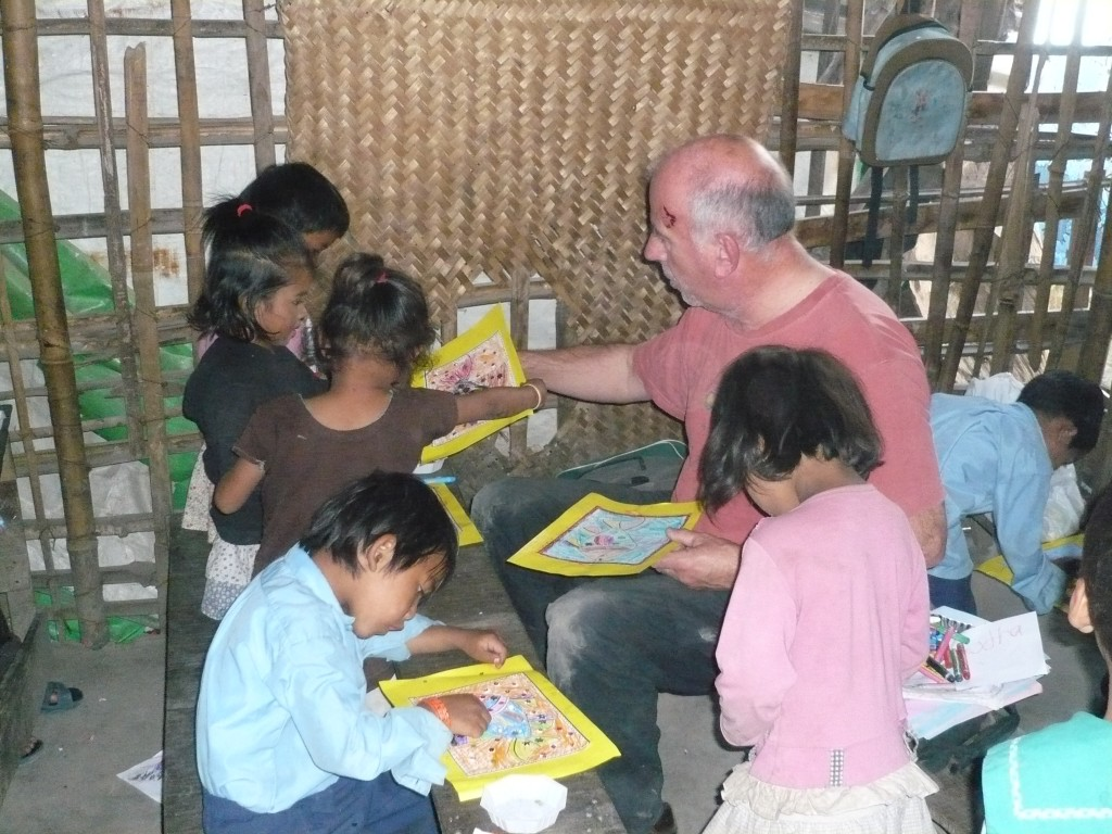 Working with children in slum