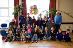 Bishop Alan and children